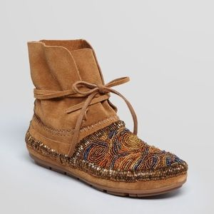 House of Harlow 1960 Beaded Mallory Moccasins